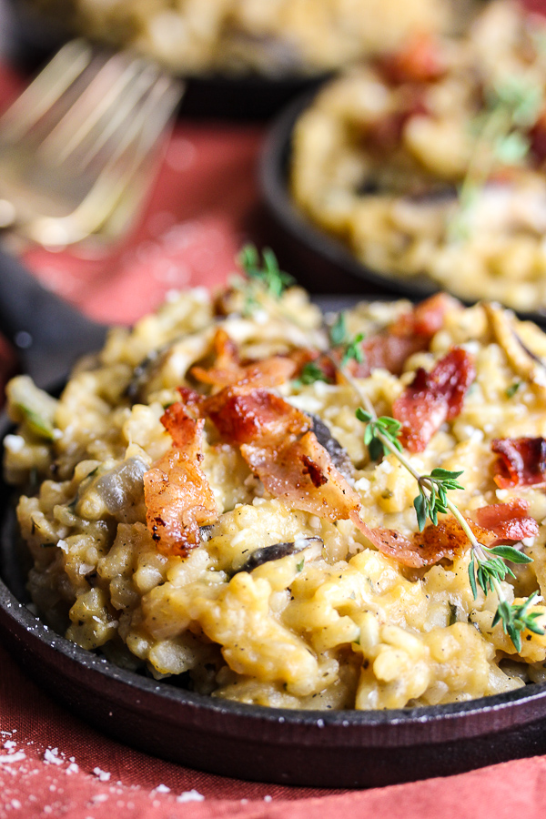 Shiitake mushrooms and sweet potatoes combine to create amazing flavor in this creamy, scrumptious mushroom sweet potato risotto. . It's perfect for both family dinners and entertaining.