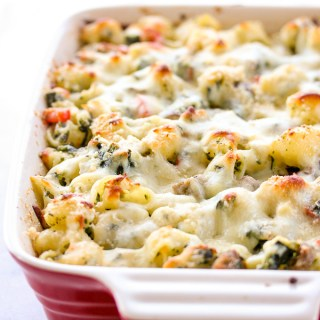 Three Cheese Italian Sausage Pasta Bake