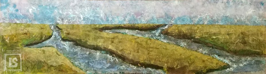 Waterways: 12 X 48 wood panel