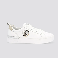Murphys---LIU-JO---White-leather-sneakers-with-gold-details
