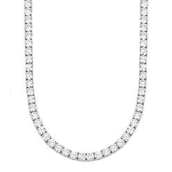 Desert-Diamonds---Brilliant-cut-prong-set-silver-Necklace
