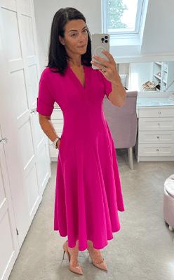 Nina's-Boutique---Kate-Cooper-Full-Skirt-Dress-in-Pink