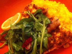 Blue Plate Special #15: Tofu Milanese & Saffron Risotto