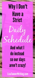 A schedule doesn't work for my crazy life, balancing homeschooling, homesteading, and freelancing. But, when we don't plan our days, we don't get much done. Here's the method I use now. #timemanagement #mompreneur