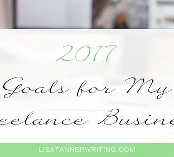 It's January! A new year and time for new goals. Here are my 2017 goals for my freelance business.