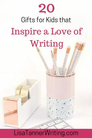 Ready to inspire a love of writing in your kids? These 20 gifts will help! #writingkids #amwriting