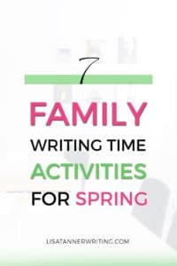 Family writing time is a wonderful way to work on your business with your kids. Here are 7 activities for spring that'll keep them busy and give you time to work.