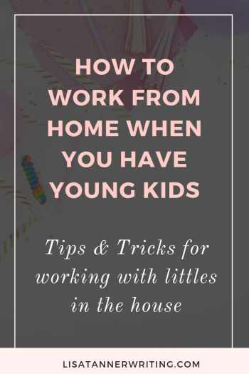 Struggling to work from home with young kids? Here's help! #mompreneur #wahm