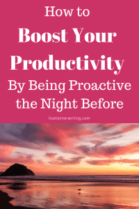 Improve your productivity by being proactive the night before. Here are several tasks I do each night to get each day started on the right foot.