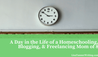 A Day in the Life of a Homeschooling, Blogging, & Freelancing Mom of 8