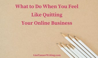 Ever feel like quitting your online business? I sure have! Here's how I navigated through these times of wondering.