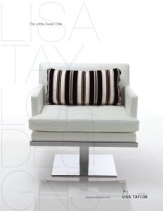 Lobby Swivel Chair by Lisa Taylor Designs