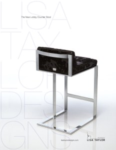 New Lobby Counter Stool by Lisa Taylor Designs