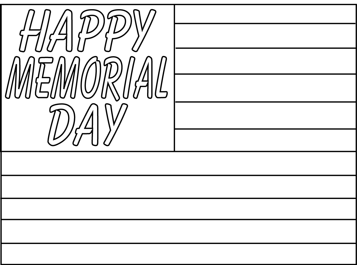 Happy Memorial Day Coloring Freebie Lisa S Everyday Life