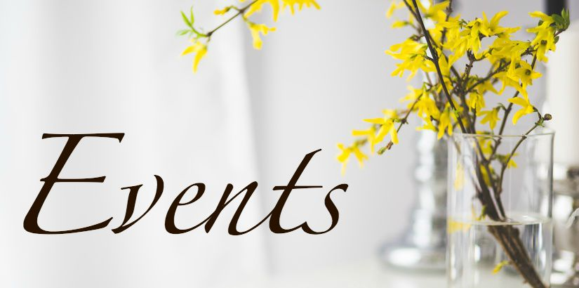 yellow flowers:EVENTS