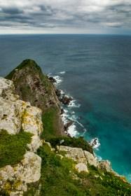 Unglaublich schöner Blick auf das Türkis-blaue Wasser und die Erdkrümmung