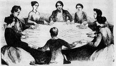 Séances became popular during and after the Civil War as Americans longed to reconnect with their many loved ones killed in the violence of the Civil War