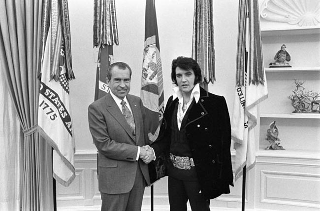 President Richard Nixon received Elvis Presley in the Oval Office, Dec. 21, 1970