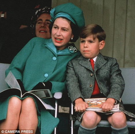 Queen Elizabeth II with son Prince Andrew when he was 7.