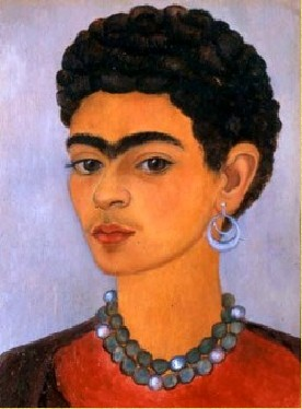 """Self-Portrait with Curly Hair,"" by Frida Kahlo, 1935"