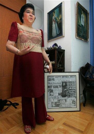 Imelda Marcos being Imeldific, June 20, 2009, Manila.
