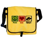 Peace Love Michael messenger bag from Cafe Press at Epic Love