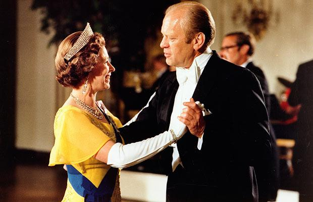 The Queen with President Gerald Ford in 1976