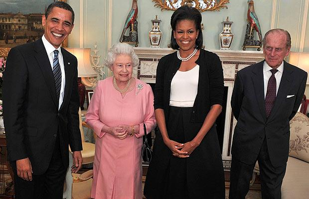 The Queen with President Barack Obama in 2009