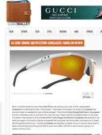 Sport glasses from Under Armour