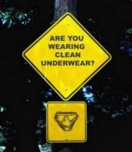 Don't forget clean underwear.