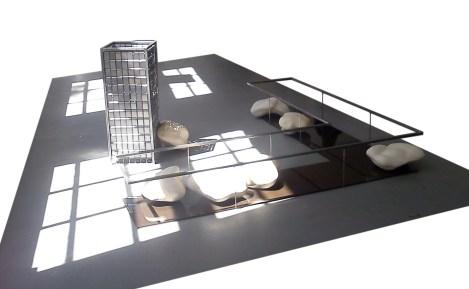 Habitat, 2010, steel, stoneware, glas, hardboard.