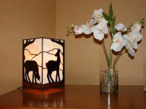 """Doe"", 2006, tiffany, lamp (sold)"