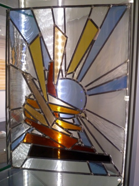 No title, 2005, stained glass.