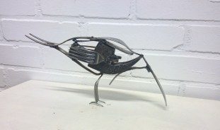 Recycled forks & hamer head. Welded. 2015 (sold)