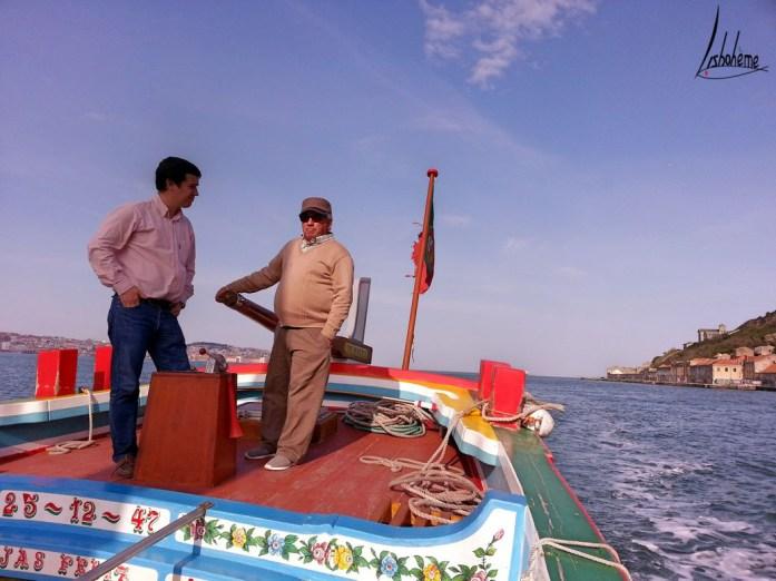 Rui et Carlos, croisière sur le Tage, Nosso Tejo