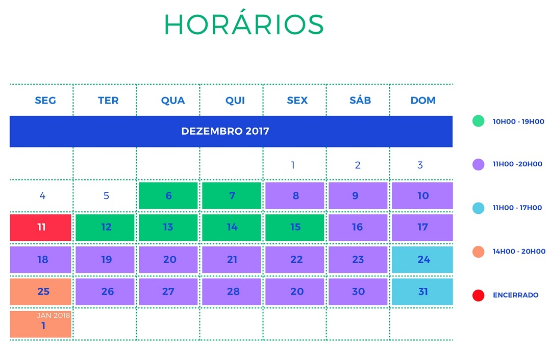 Horaires Cascais Christmas Village 2017