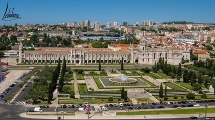 Vue du Monastère des Hiéronymites depuis le Monument aux Découvertes à Belém