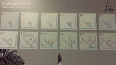 Evolution du réseau du métro, musée Carris