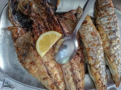 Espadon et maquereau grillés, o Batoque, Seixal