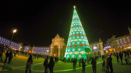 Terreiro do Paço, noël 2018, lumières de Noël de Lisbonne 2018