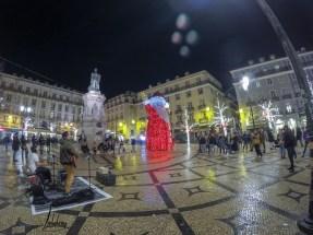 Place Luís de Camões, lumières de Noël de Lisbonne 2018