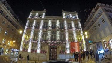 Largo do Chiado, lumières de Noël de Lisbonne 2018