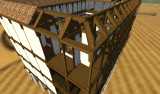 Arcas Pateo: Wooden structure for roof