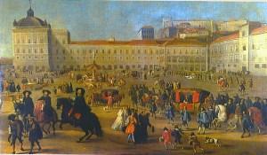 Terreiro do Paço 1662 por Dirk Stoop
