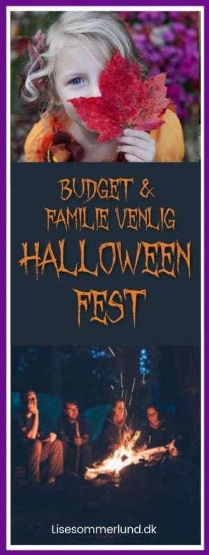 Familie og Budgetvenlig halloween fest spar penge børn