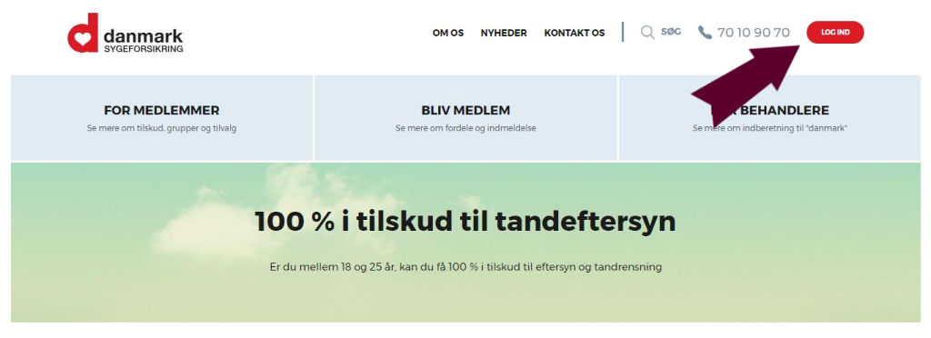 Sygesikring Danmark penge  tilskud udbetaling