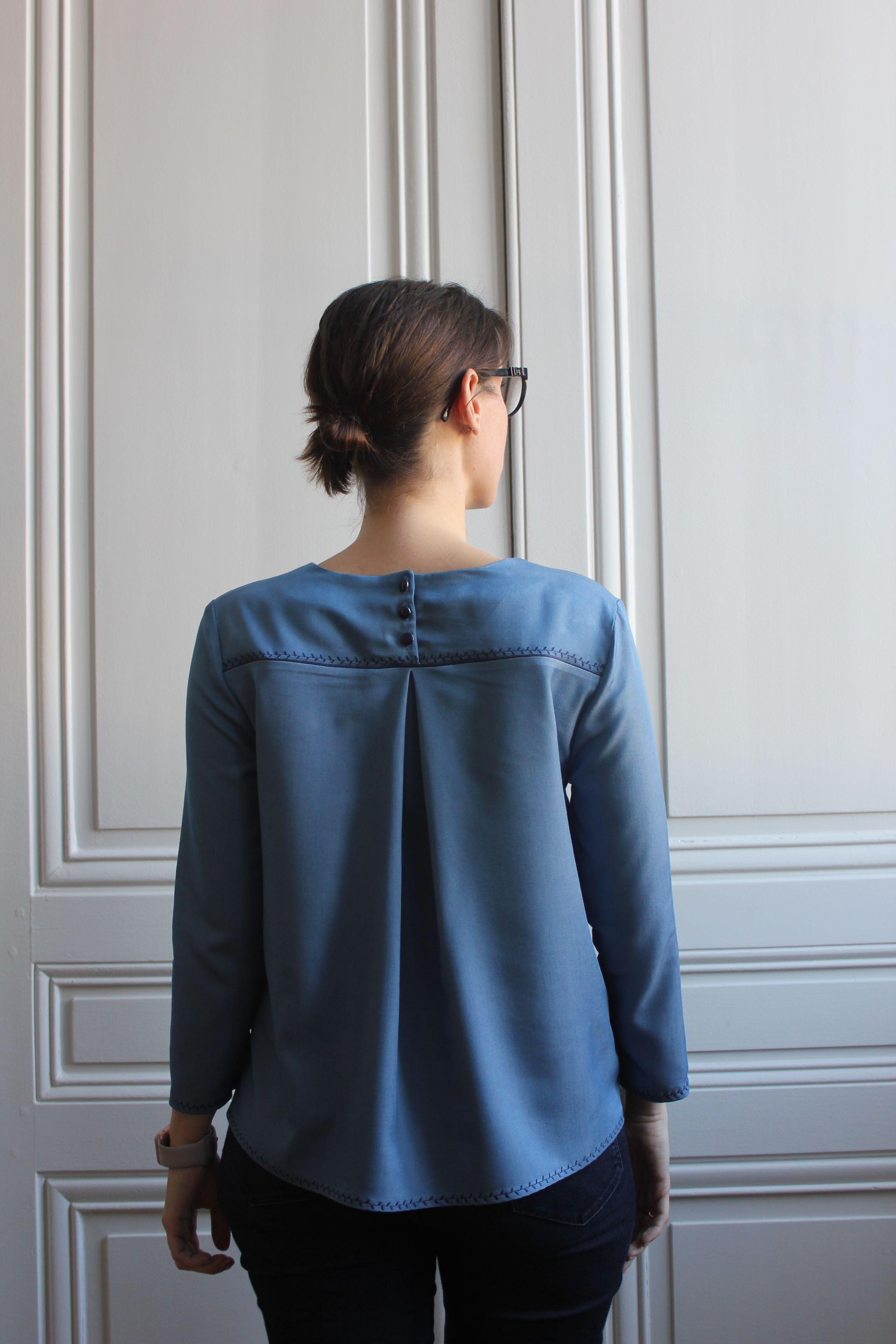 Blouse Violette Dessine moi un patron - Made by Lise Tailor
