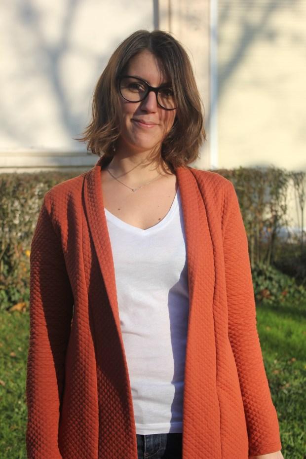 Gilet Cannelle Fil Etik - Christelle Beneytout