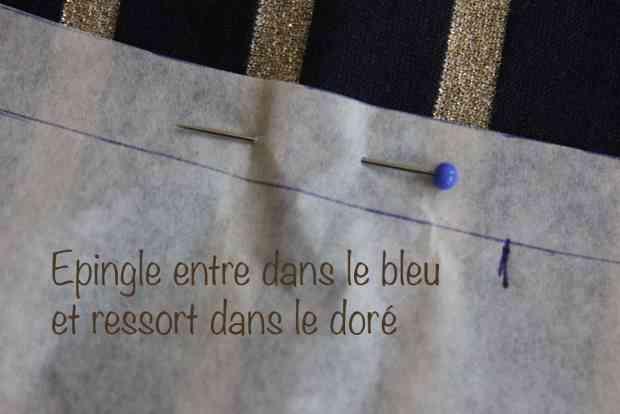 Couture - Raccords sur un tissu à rayures