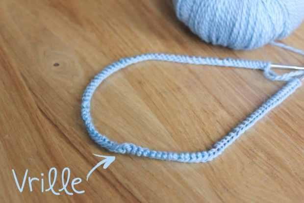Apprendre à tricoter en rond - Maille vrillée - Blog tricot